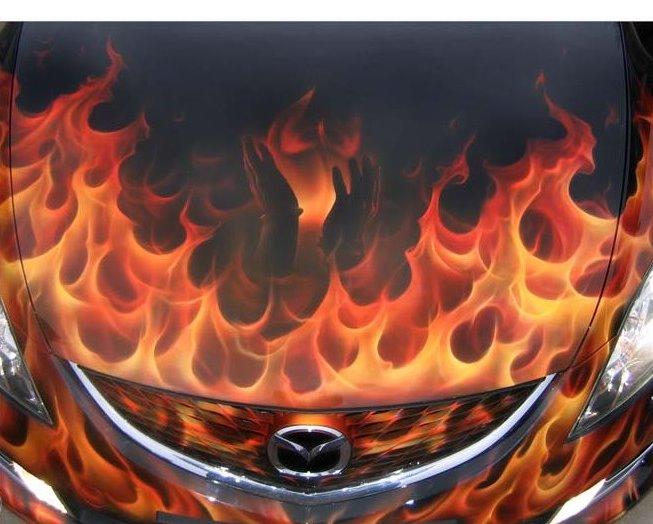 Огонь картинки на машину